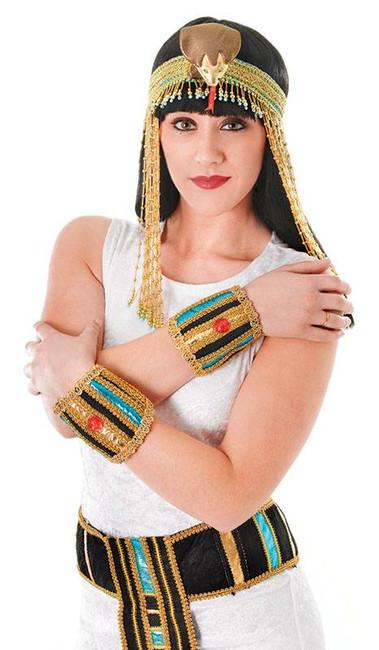 Egyptian Wristbands,  Cleopatra Fancy Dress Accessory