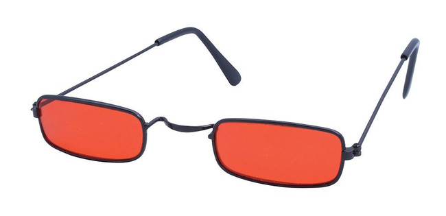 Dracula Shades, Glasses, Red Tinted Specs, Halloween Fancy Dress Accessory
