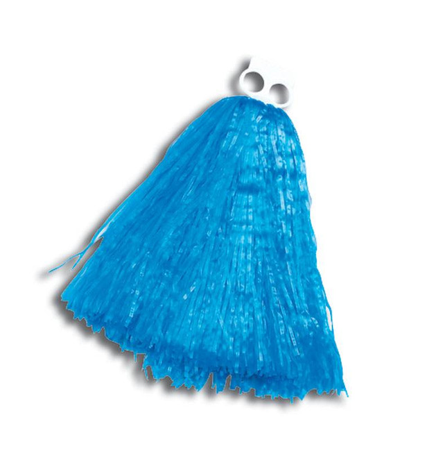 Small BLUE Pom Pom, Poms Sold Singularly, Cheerleader/High School Fancy Dress
