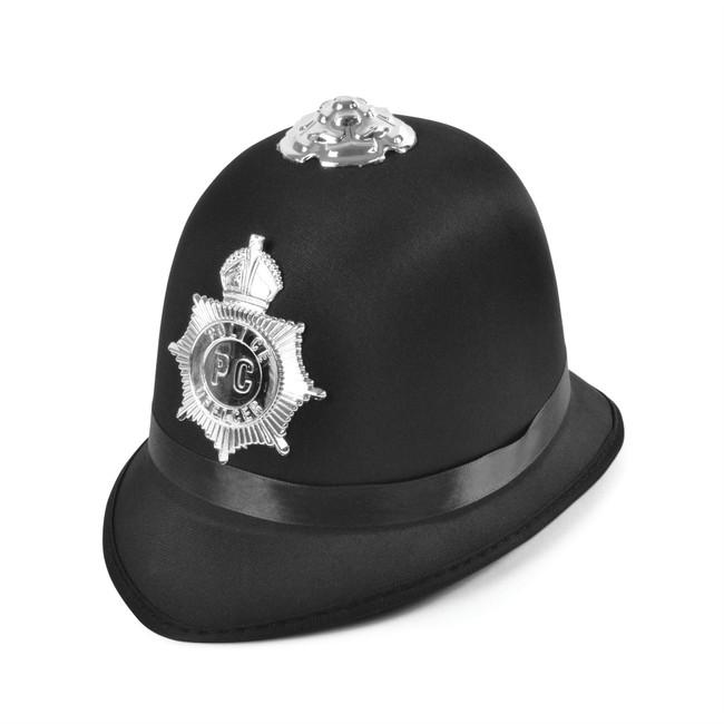 Police Bobby Hat Satin Fabric