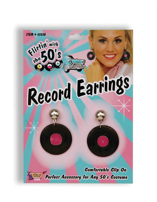 Record Earrings, 1970s 1980s