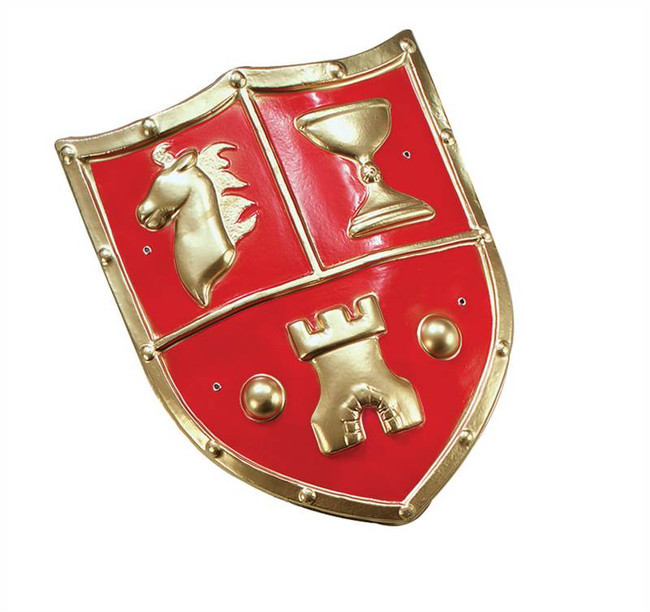 Shield. PVC, Medieval Type, Roman Soldier, Warrior, Greek, Fancy Dress Accessory