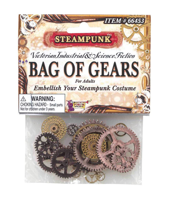STEAMPUNK GEARS, FANCY DRESS ACCESSORY