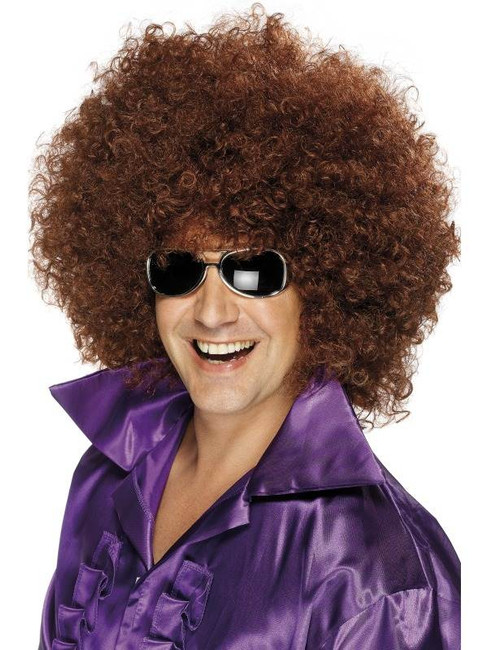 Bushy Brown Afro Wig, Afro Wig. Mega Huge 1970's Disco, Fancy Dress