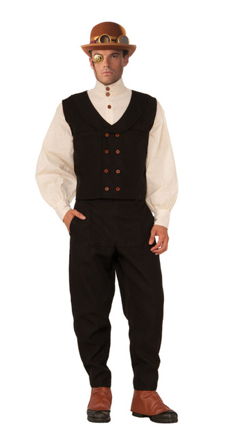 Steampunk Vest Black