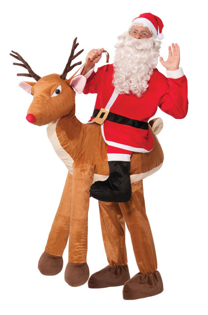 SANTA RIDE-A-REINDEER, HALLOWEEN FANCY DRESS COSTUME, ONE SIZE