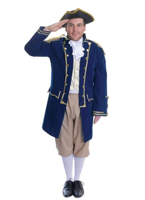 ADMIRAL OF THE FLEET, HALLOWEEN FANCY DRESS COSTUME, CHEST SIZE 44""