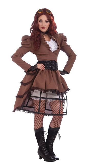 STEAMPUNK VICKY HOOP SKIRT, FANCY DRESS COSTUME,