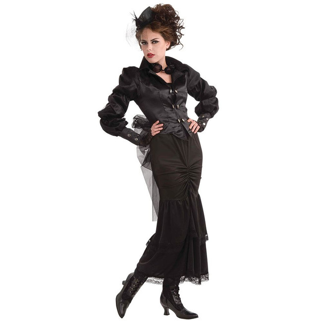 STEAMPUNK VICTORIAN LADY, FANCY DRESS COSTUME, UK SIZE 10-14