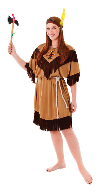 Indian Lady, Plus Size, Womens Adult Fancy Dress Costume