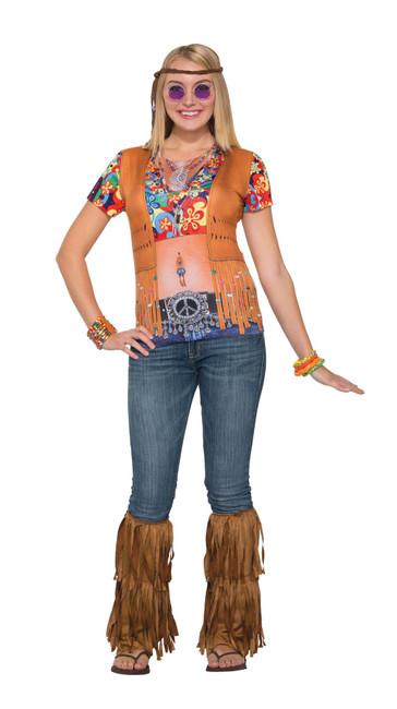 3D Tee Shirt Hippie Gal, 1960s Hippy