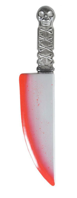 FAKE BLOODIED KNIFE, PLASTIC HALLOWEEN BLOODY WEAPON ACCESSORY/PROP/DECORATION