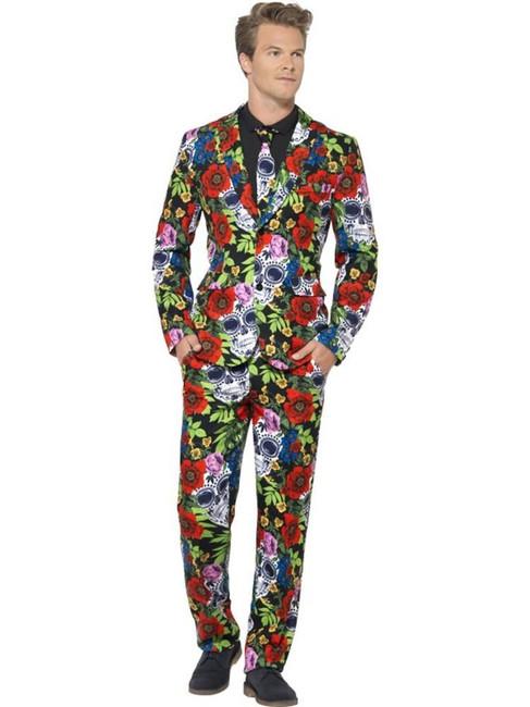 Day of the Dead Suit, XL, Halloween Fancy Dress, Mens
