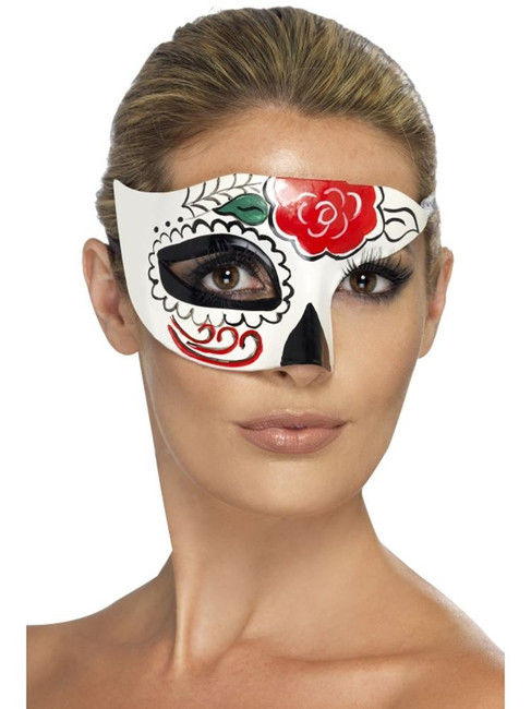 Mexican Day of the Dead Half Eye Mask, Fancy Dress