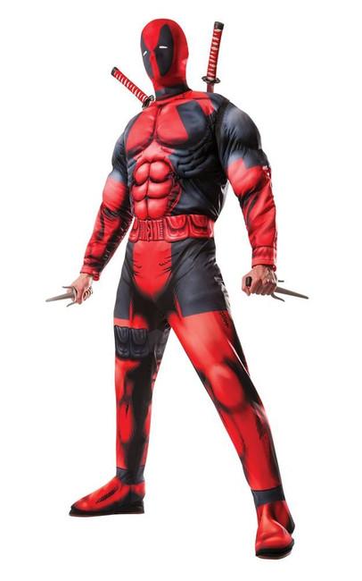 Deadpool Deluxe Costume, Fancy Dress, XL, US Size