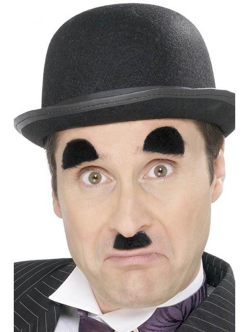 Chaplin Tash and Eyebrows.  Black