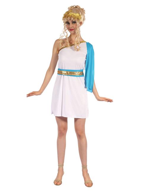 Greek Goddess With Blue Sash