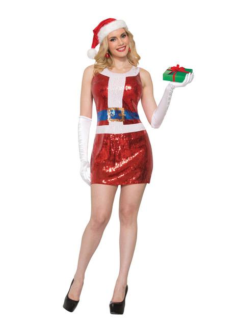 Miss Santa Dress Sequin (M / L)