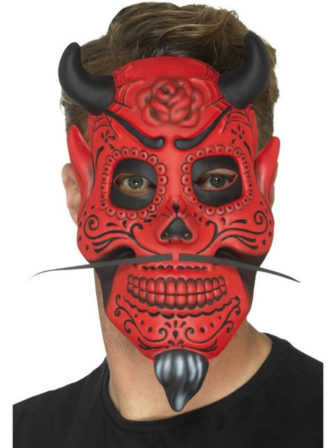 Day of the Dead Devil Mask, Adult, Mexican Day of The Dead/Sugar Skulls