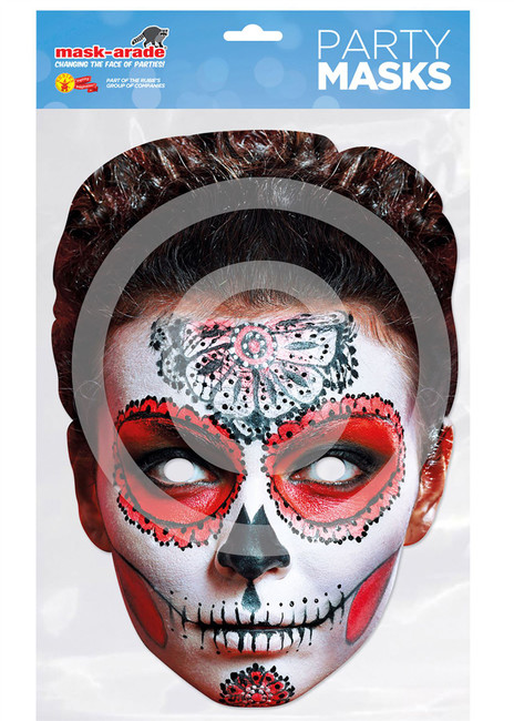 Day of the Dead Card Mask Butterfly