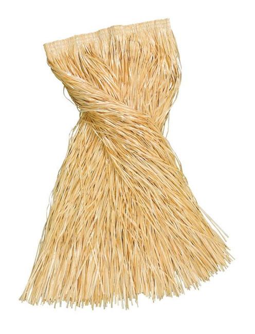 Long Length Grass Skirt 80cm Straw Coloured, XL HAWAIIAN/HULA FANCY DRESS