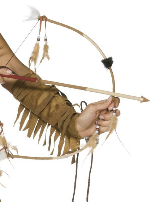 Feathered Indian Bow and Arrow Set.