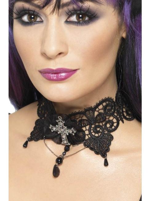 Gothic Lace Choker, One Size