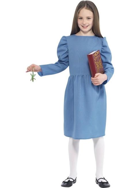 Roald Dahl Matilda Costume, Roald Dahl Licensed Fancy Dress. Small Age 4-6
