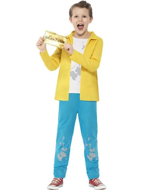 Roald Dahl Charlie Bucket Costume,Licensed Fancy Dress,Small Age 4-6