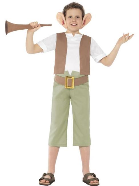 Roald Dahl BFG Costume, Roald Dahl Licensed Fancy Dress. Small Age 4-6