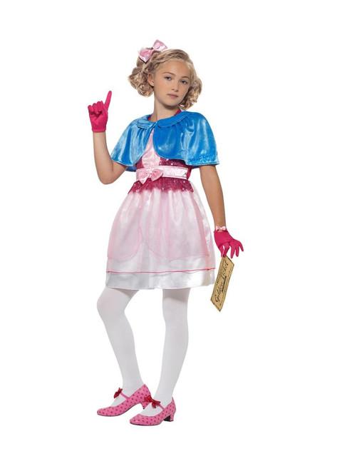 Roald Dahl Deluxe Veruca Salt Costume, Licensed Fancy Dress, Large Age 10-12