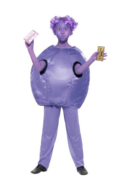 Roald Dahl Deluxe Violet Beauregarde Costume,Licensed Fancy Dress, Age 7-9