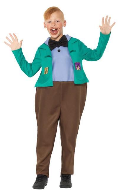 Roald Dahl Deluxe Augustus Gloop Costume,Licensed Fancy Dress,Medium Age 7-9