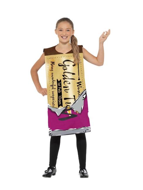 Roald Dahl Winning Wonka Bar Costume, Licensed Fancy Dress, Small/Medium