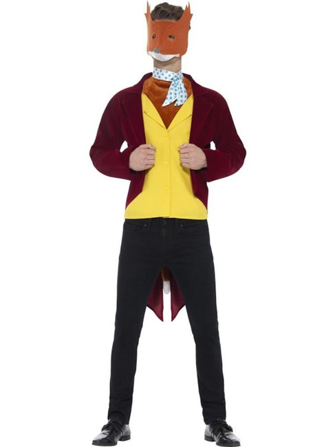 Roald Dahl Fantastic Mr Fox Costume, Large, Adult Fancy Dress Costumes, Mens