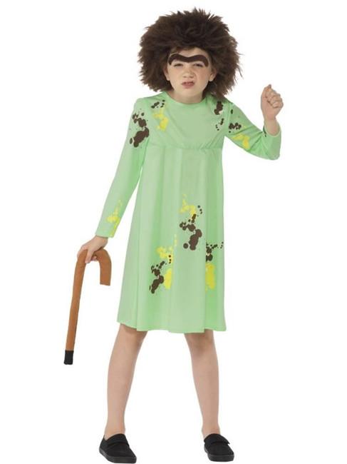 Roald Dahl Mrs Twit Costume, Medium Age 7-9, Children's Fancy Dress, Girls