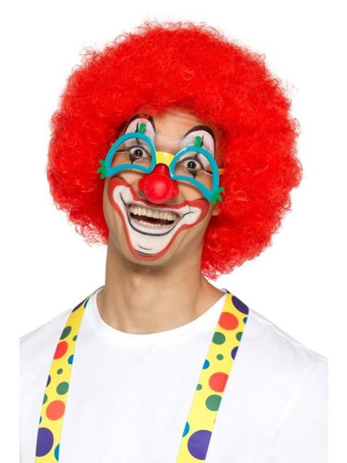 Comedy Clown Specs with Rubber Nose, Jokes/Novelty/Fancy Dress