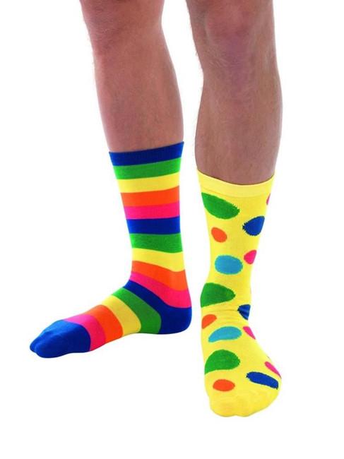 Big Top Clown Socks, Unisex, Fancy Dress, One Size