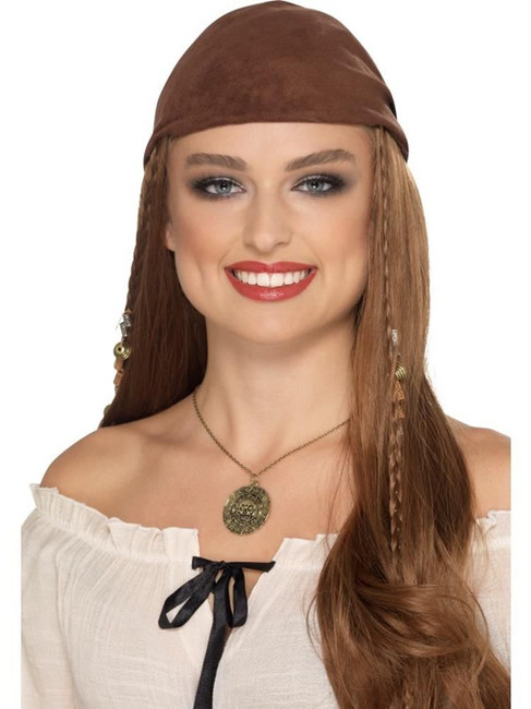 Pirate Necklace Bronze, Pirate Fancy Dress, One Size