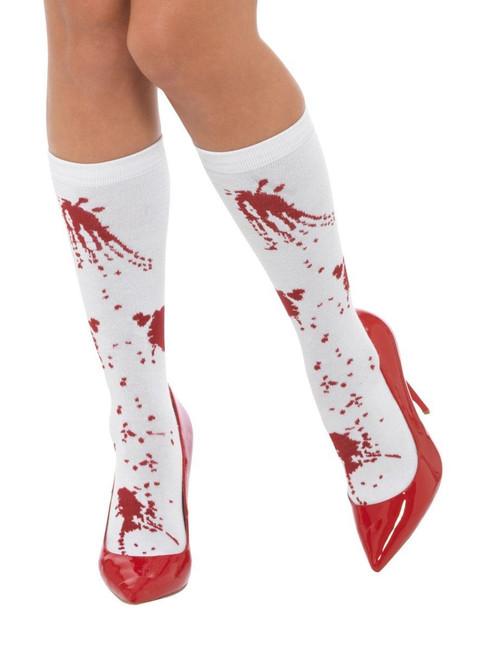 Blood Splatter Socks, Halloween Fancy Dress Accessories, One Size