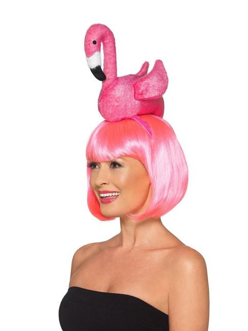 Flamingo Headband, Hawaiian Luau Fancy Dress