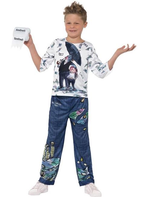 David Walliams Deluxe Billionaire Boy Costume, Fancy Dress, Large Age 10-12