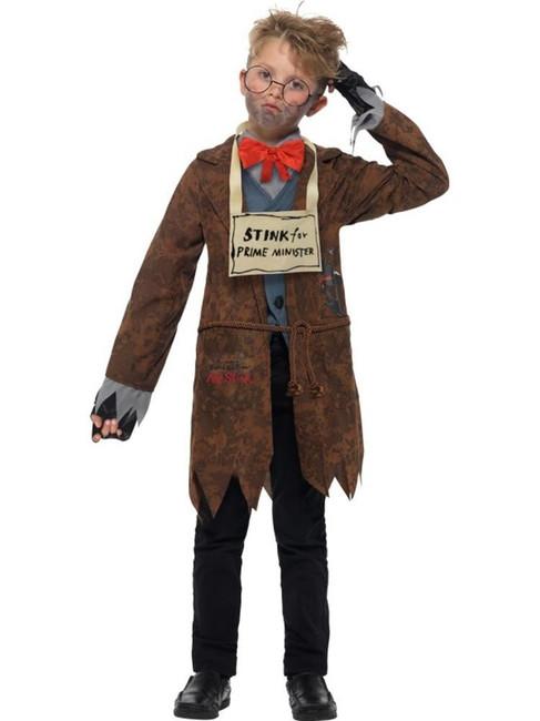 David Walliams Deluxe Mr Stink Costume, Fancy Dress, Small Age 4-6