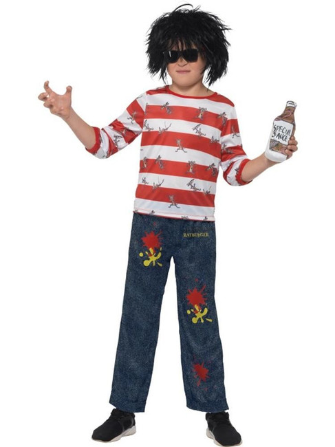 David Walliams Deluxe Ratburger Costume, Fancy Dress, Small Age 4-6