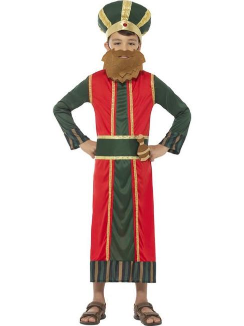 King Gaspar Costume, Christmas Nativity Wise Man, Medium Age 7-9