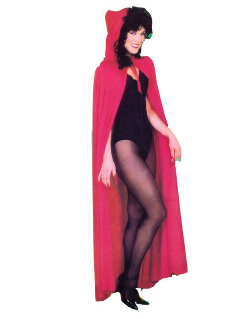 HOODED CAPE RED, HALLOWEEN CLOAK, DRACULA,VAMPIRE,WITCH FANCY DRESS COSTUME
