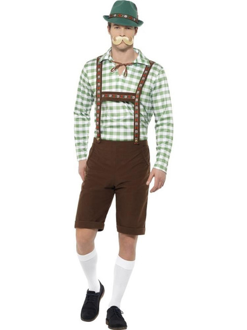 Alpine Bavarian Costume, Oktoberfest Beer Festival Fancy Dress, XL