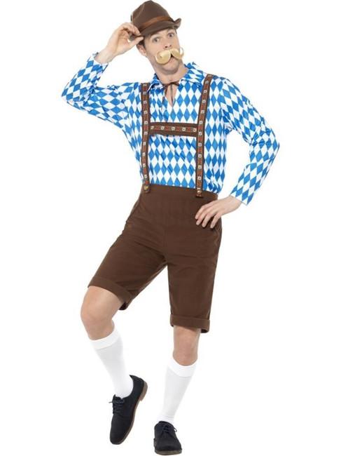 Bavarian Beer Man Costume, Oktoberfest Beer Festival Fancy Dress, XL