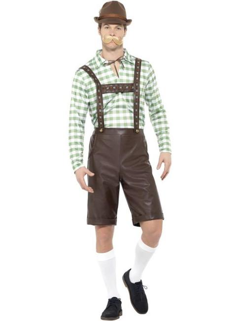 Bavarian Man Costume, Oktoberfest Beer Festival Fancy Dress, Large