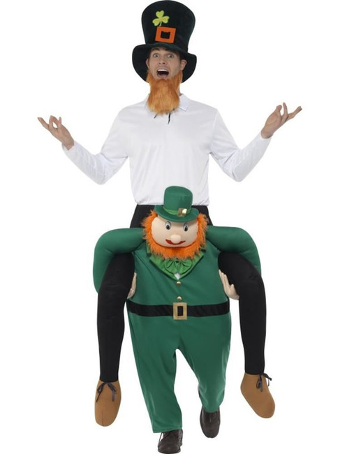 Piggyback Paddy's Leprechaun Costume, Around The World Fancy Dress, One Size